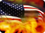 Burning-USFlag
